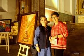 With Dayanita Singh